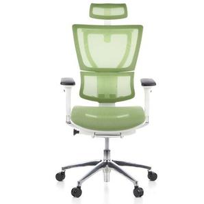 ERGOHUMAN SLIM Netz - Luxus Chefsessel Grün / Weiß