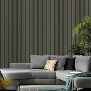 Erismann Vliestapete Spotlight, 10,05 x 0,53m Streifen/Wellen B/L: 0,53 m grau Vliestapeten Tapeten Bauen Renovieren