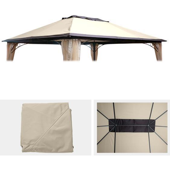 Ersatzbezug 365x265cm f�r Dach Pergola Pavillon HWC-C44 3x4m, creme
