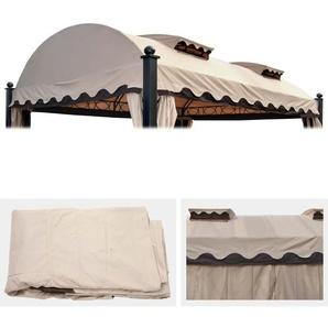 Ersatzdach fr Pergola Daroca 4,5x3,5m, Dach Bezug Sonnenschutz, creme