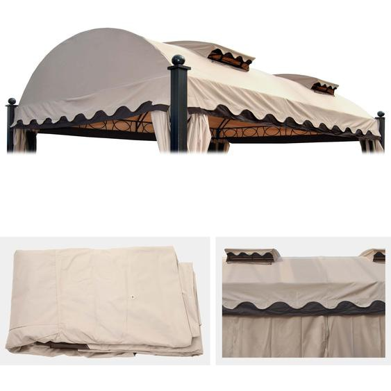 Ersatzbezug 440x340cm f�r Dach Pergola Pavillon Daroca 3,5x4,5m creme