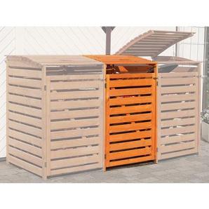 Erweiterung Mülltonnenbox Vario III Honigbraun