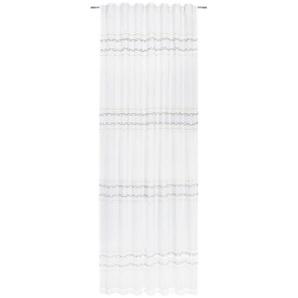 Esposa Fertigvorhang blickdicht 140/250 cm , Weiß , Textil , Uni , 140x250 cm