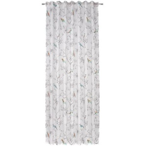 Esposa Fertigvorhang halbtransparent 140/245 cm , Mehrfarbig , Textil , Vogel , 140x245 cm