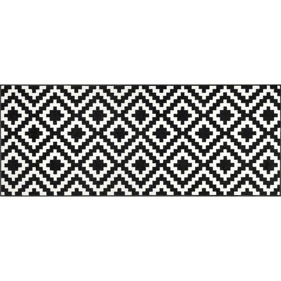 Esposa Fußmatte 75/190 cm Karo Weiß , Textil , 75 cm