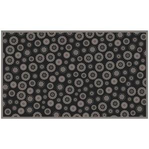 Esposa FUßMATTE , Grau , Textil , Blume , rechteckig , 90 cm , Garderobe, Fußmatten