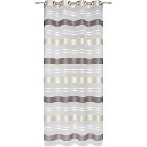 Esposa Ösenschal halbtransparent 135/245 cm , Grau, Beige , Textil , Streifen , 135x245 cm