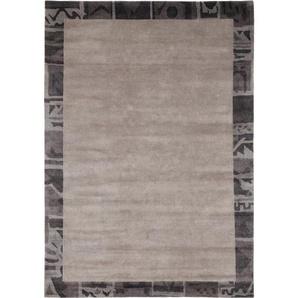 Esposa Orientteppich , Grau , Textil , Bordüre , rechteckig , 140 cm , in verschiedenen Größen erhältlich , Teppiche & Böden, Teppiche, Orientteppiche