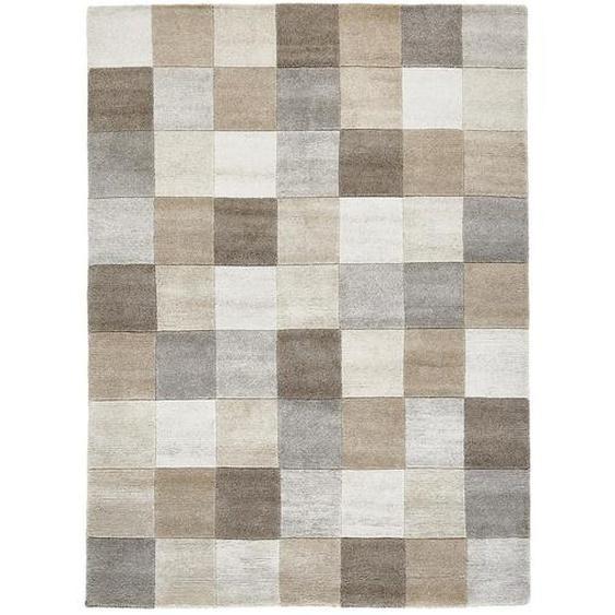 Esposa Orientteppich 70/140 cm Braun, Mehrfarbigfarben , Textil , Karo , 70 cm