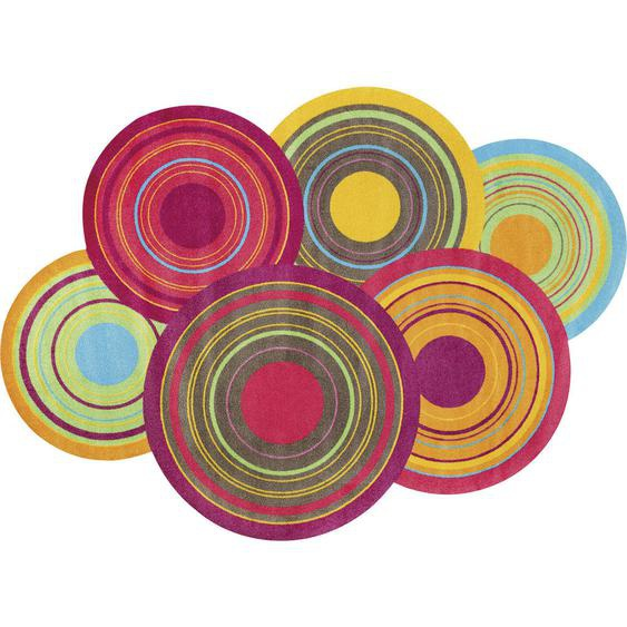 Esposa Teppich 140/200 cm Mehrfarbig , Mehrfarbig , Textil , Graphik , 140 cm