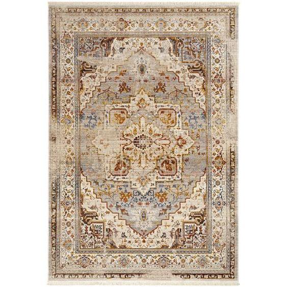 Esposa Vintage-Teppich 200/285 cm Grau, Mehrfarbig , Textil , Ornament , 200 cm