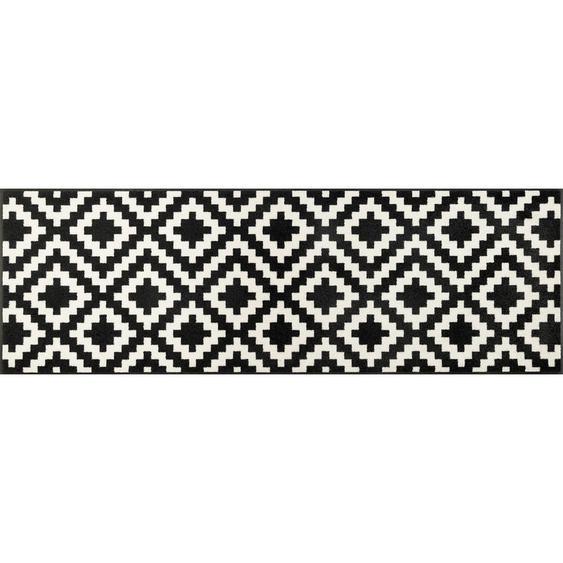 Esposa Webteppich 60/180 cm Weiß , Textil , Karo , 60 cm