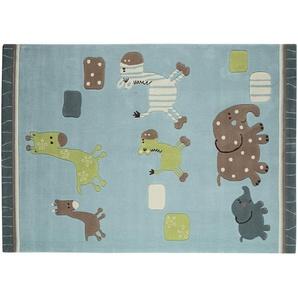 Esprit Handtuft-Teppich  Lucky Zoo ¦ blau ¦ 100 % Acryl ¦ Maße (cm): B: 70 Teppiche  Auslegware » Höffner
