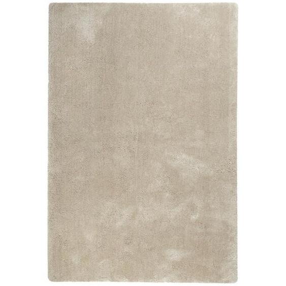 Esprit Hochflorteppich 120/170 cm getuftet Gelb, Beige , Textil , Uni , 120x170 cm