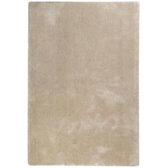 Esprit Hochflorteppich 130/190 cm getuftet Gelb, Beige , Textil , Uni , 130x190 cm