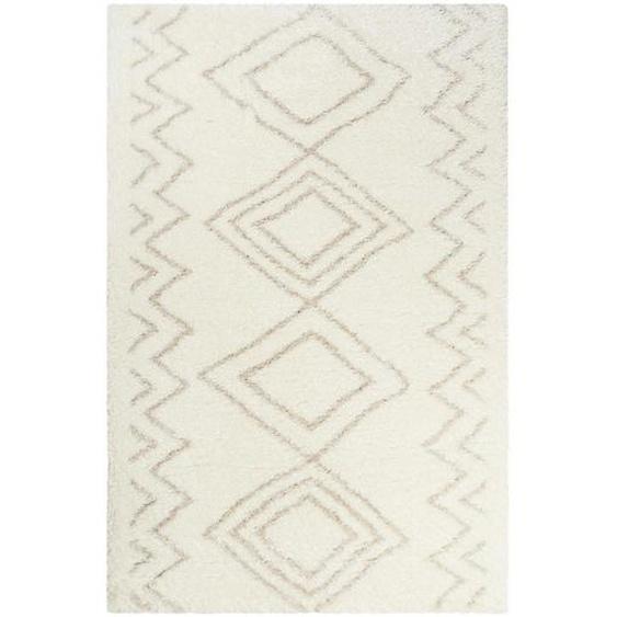 Esprit Hochflorteppich 160/230 cm gewebt Weiß , Textil , Graphik , 160x230 cm