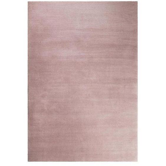 Esprit Hochflorteppich 200/200 cm getuftet Rosa , Textil , Uni , 200x200 cm