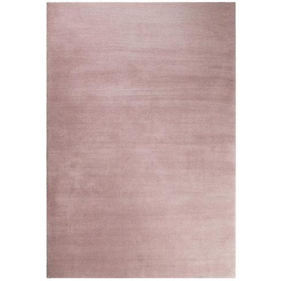 Esprit Hochflorteppich 200/290 cm getuftet Rosa , Textil , Uni , 200 cm