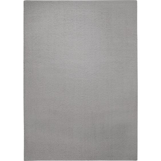 Esprit Hochflorteppich 200/290 cm gewebt Grau , Textil , Uni , 200x290 cm