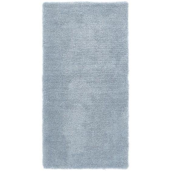 Esprit Hochflorteppich 70/140 cm getuftet Grau, Blau , Textil , Uni , 70x140 cm