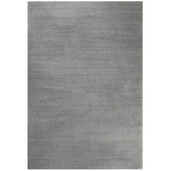 Esprit Hochflorteppich 70/140 cm getuftet Grau , Textil , Uni , 70x140 cm