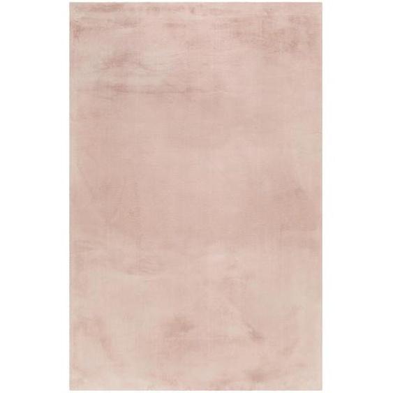 Esprit Hochflorteppich 70/140 cm gewebt Rosa , Textil , Uni , 70 cm