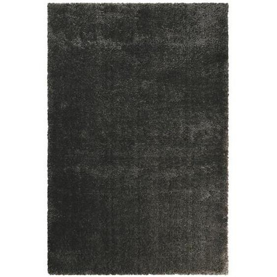 Esprit Hochflorteppich 80/150 cm gewebt Grau , Textil , Uni , 80x150 cm