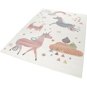 Esprit Kinderteppich Sunny Unicorn, rechteckig, 13 mm Höhe B/L: 133 cm x 200 cm, 1 St. beige Kinder Kinderteppiche mit Motiv Teppiche