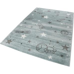 Esprit Kinderteppich Yoda, rechteckig, 13 mm Höhe, Weltall Design, Kurzflor B/L: 120 cm x 170 cm, 1 St. grau Kinder Kinderteppiche mit Motiv Teppiche