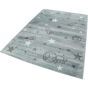 Esprit Kinderteppich Yoda, rechteckig, 13 mm Höhe, Weltall Design, Kurzflor B/L: 80 cm x 150 cm, 1 St. grau Kinder Kinderteppiche mit Motiv Teppiche