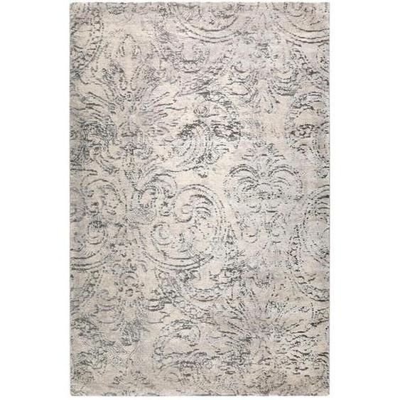 Esprit Webteppich 120/170 cm Grau , Textil , Floral , 120 cm