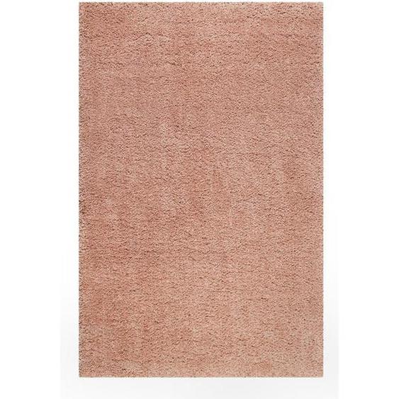 Esprit Webteppich 120/170 cm Rosa, Rosa , Textil , Uni , 120 cm