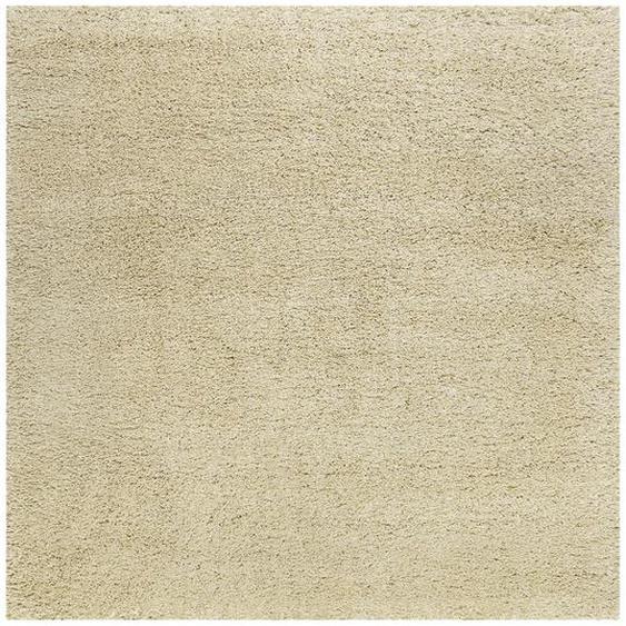 Esprit Webteppich 200/200 cm Beige , Textil , Uni , 200 cm