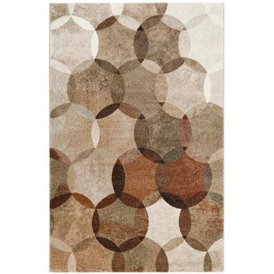 Esprit Webteppich 200/290 cm Braun, Mehrfarbigbraun , Textil , Graphik , 200 cm