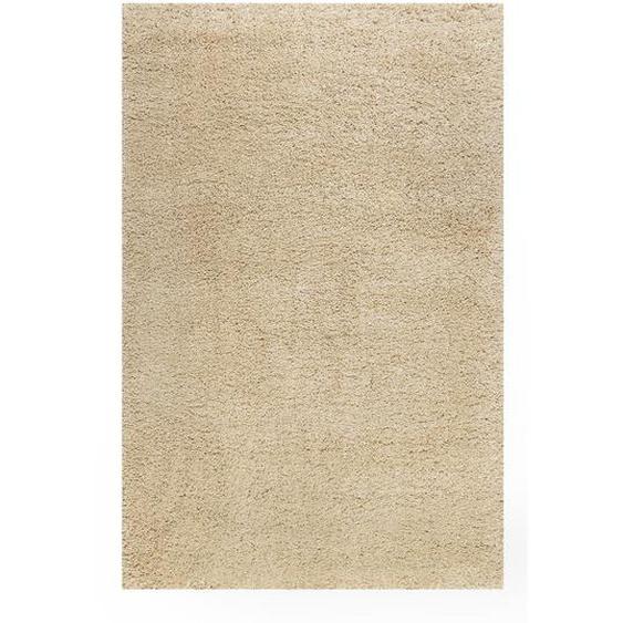 Esprit Webteppich 70/140 cm Beige , Textil , Uni , 70 cm