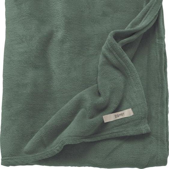 Esprit Wohndecke Mellows, in modernen Farben B/L: 150 cm x 200 grün Decken SOFORT LIEFERBARE Wohntextilien