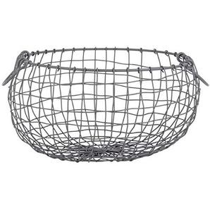 Esschert Design Draht Korb -Gross- rund Ø 35,4 cm Griffe Dekoration Garten Deko