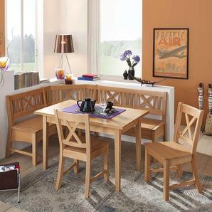Essecke aus Buche Massivholz mit ausziehbarem Tisch (4-teilig)