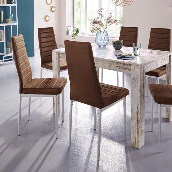 Essgruppe »0«, (Set, 5-tlg), mit Esstisch »Lynn«, Breite 120 cm und 4 x Stuhl »Kate«