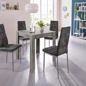Esstisch »Lynn«, Breite 80 cm und 4 x Stuhl »Kate«