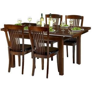 Essgruppe Remsen mit ausziehbarem Tisch und 4 Stühlen