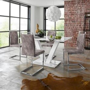 INOSIGN Essgruppe »Andy/Jella«, (Set, 5-tlg), mit Tisch und 4 Stühlen