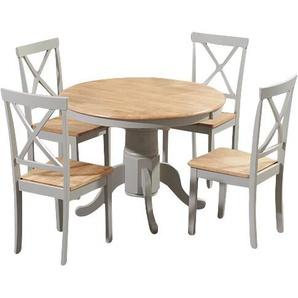 Essgruppe Bartett mit ausziehbarem Tisch und 4 Stühlen