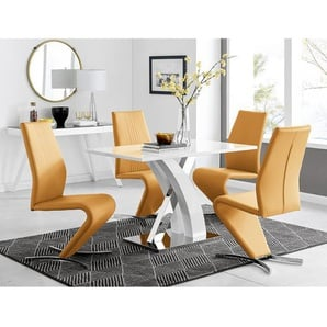 Essgruppe Feickert mit 4 Stühlen