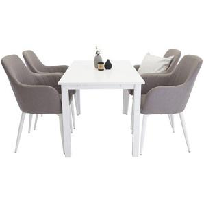 Essgruppe Farmington mit ausziehbarem Tisch und 4 Stühlen