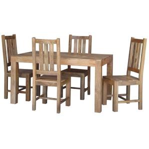 Essgruppe Friel mit klappbarem Tisch und 4 Stühlen