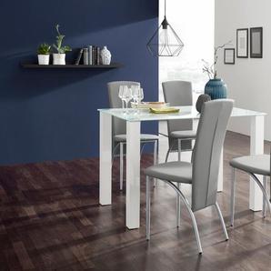 Essgruppe , weiß, Tischbreite 120cm, strapazierfähig, FSC®-zertifiziert,