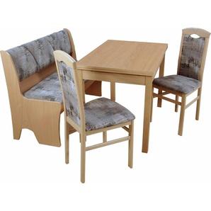 Sitzgruppe mit Truhenbank , strapazierfähig, FSC®-zertifiziert, natur