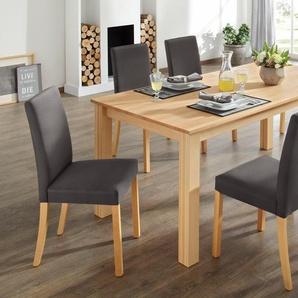 Home affaire Esstischgruppe , beige, Stuhl: Kunstleder, FSC®-zertifiziert