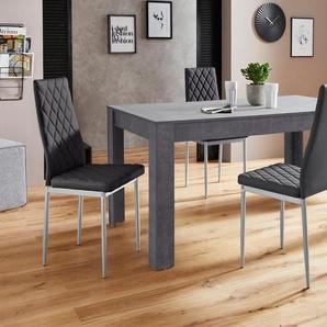 Essgruppe »Lynn160/Brooke«, Tisch mit 4 Stühlen
